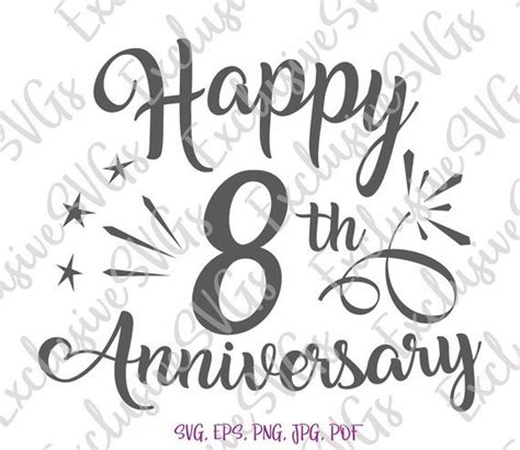 happy  anniversary svg  years lettering gift