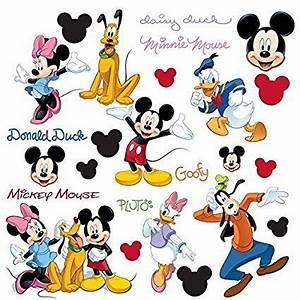 Micky Maus Wandtattoo : coole wandtattoos f r die gestaltung der kinderzimmerwand mickey mouse pluto minnie mouse und ~ Orissabook.com Haus und Dekorationen