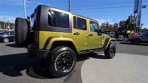 2008 Jeep Wrangler Unlimited Sahara Green Stk 8l570826