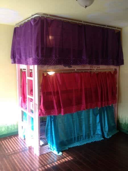 Bunk Bed Drapes - bunk bed ideas for tiny houses for tiny house families