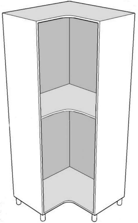 caisson d angle de dressing larg 850x850mm pino cervino