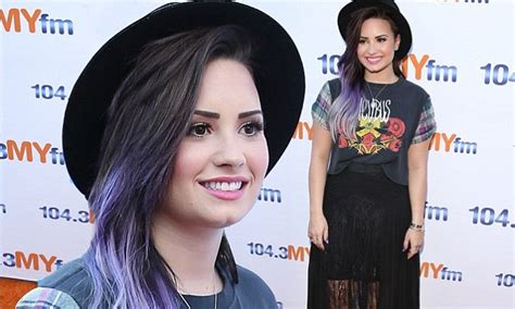 demi lovato is grunge chic in plaid rocker t shirt at my demi lovato is grunge chic in plaid rocker t shirt at my