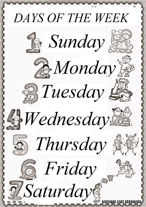 days of the week preschool worksheets 1000 images about