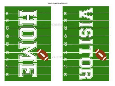 homevisitor football signs football decorations