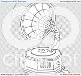 Record Vinyl Gramophone Illustration Clipart Phonograph Playing Vector Royalty Bannykh Alex Clip sketch template