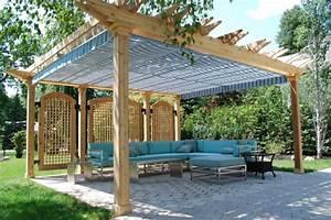 Holz Für Pergola : pergola im garten sonnen und sichtschutz aus holz ~ Sanjose-hotels-ca.com Haus und Dekorationen