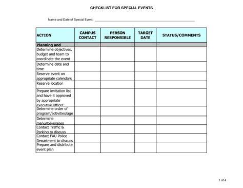 work plan spreadsheet examples  tasks event planning