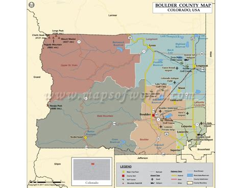 Boulder County Search Buy Boulder County Map Colorado