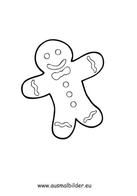 ausmalbilder lebkuchenmann weihnachten malvorlagen