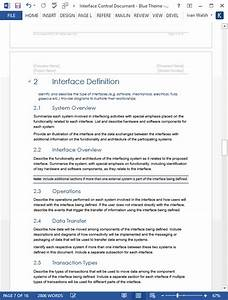 interface control document 17 page ms word templates With interface design document template
