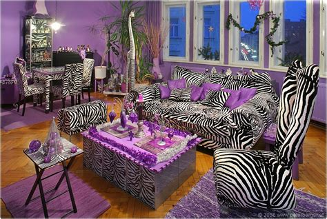 zebra stripes purple accent living room pictures