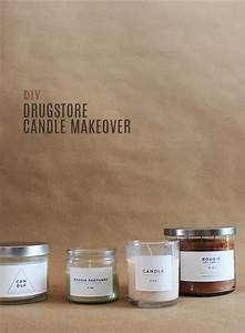diy drugstore candle makeover with printable labels With candle labels and packaging