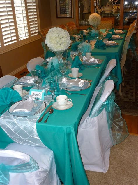Tiffany Blue Table Decorations This Years Theme Was