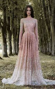 long sleeve pink wedding dresses oasis amor fashion With long sleeve pink wedding dresses