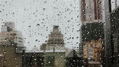 Rain Window Drops Glass Background Widescreen