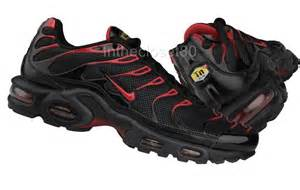 Red and Black Nike Air Max Plus TN