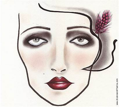 Makeup 1920 1920s Face Inspired Gatsby Chart