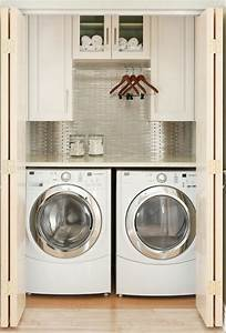 20 small laundry room furniture with small space solutions for Small laundry room solutions