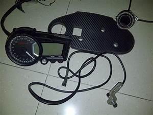 Speedometer Koso Rx2  Voltmeter Digital   Bracket Carbon For Ninja250