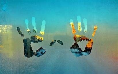 Hand Background Glass Wallpapers Hands Handprint Others