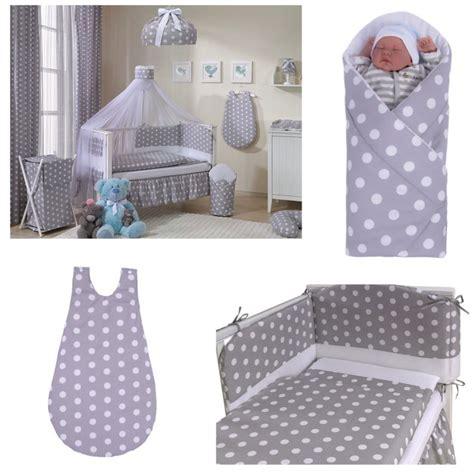 parure de lit personnalise parure de lit b 233 b 233 pois chic gris avec tour de lit en coton bio