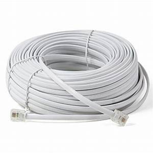 100ft White Telephone Cord Cable Wire Feet Extension Wire
