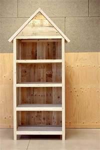 meuble de rangement en palette esprit cabane idees With meuble de rangement bricolage