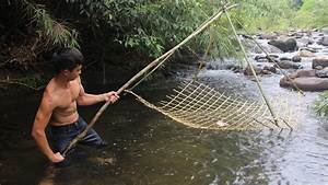 Primitive Technology  Make Fishing Nets In The Forest And