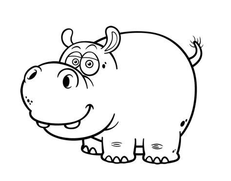 Dibujo de Hipopótamo común para colorear Hipopotamos