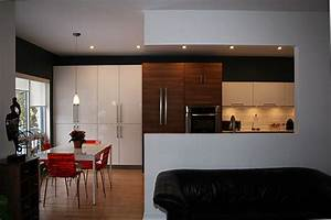 wall cut out modern kitchen montreal by cuisines With kitchen wall cut out designs