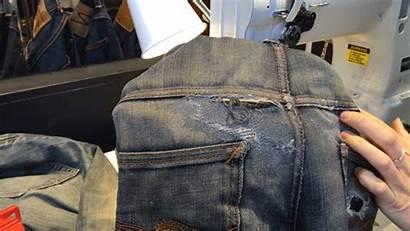 Jeans Pocket Ripped Fix Vogue Repair Inside