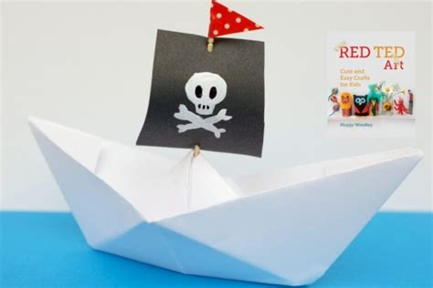 How To Make A Paper Boat That Actually Floats by Diy Paper Toys Red Ted Art S Blog
