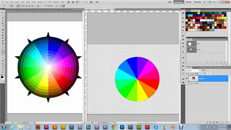 color wheel photoshop how to make a color wheel photoshop tutorial part 8