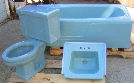 Bluss Sassy Tolet from 22 blue midcentury bathrooms retro renovation