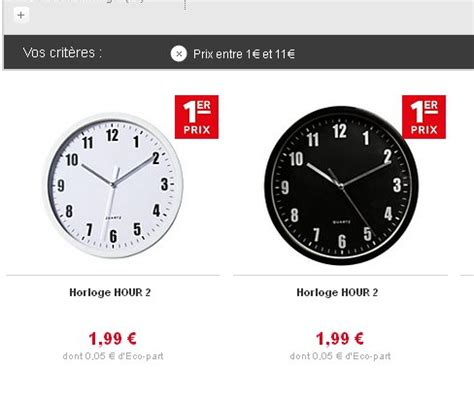 horloges murales pas ch 232 res 224 moins de 2 euros port inclus bons plans et astuces bons plans