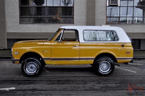 New Chevy K5 by 1972 Chevrolet K5 Blazer Cst Custom 4x4 Wheatland Yellow