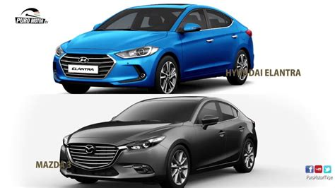 Mazda Hyundai by Hyundai Elantra 2017 Vs Mazda 3 2017 Suscribete Whatsapp