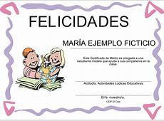 Generador de certificados Actividades Lúdicas Educativas