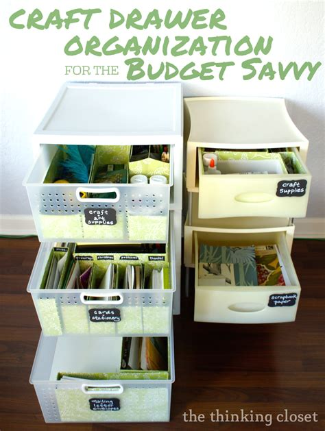 Closet Drawer Organization Ideas by Craft Drawer Organization For The Budget Savvy The