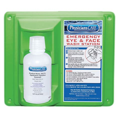 northern safety  eyewash station single bottle  oz