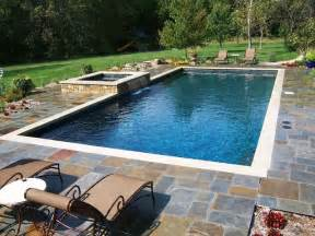 Rectangle Swimming Pool with Hot Tub