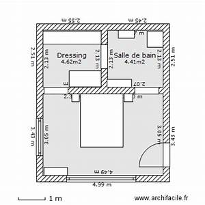 Plan chambre parentale avec salle de bain et dressing 10 for Plan de dressing chambre