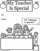 Teacher Coloring Appreciation Pages Special Printable Teachers Church Colors Cartoon sketch template