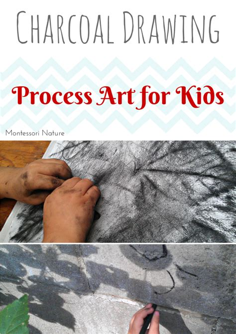 how to use charcoal charcoal drawing process art for kids day 6 montessori nature