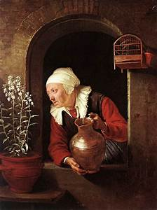 File:Gerard Dou - Old Woman Watering Flowers - WGA06654.jpg - Wikimedia Commons