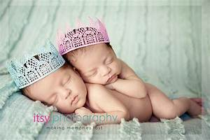 Newborn Twin Session- baby boy and baby girl