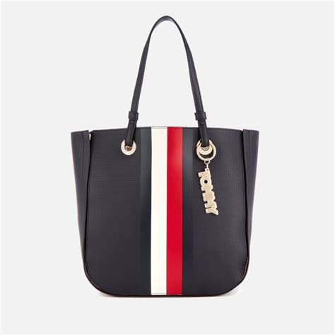 tommy hilfiger womens tommy twist tote bag navy womens