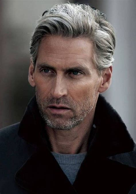 Men with Long grey Hair       Mens Hair : VictorHugoHair