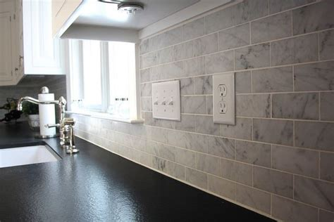 marble subway tile kitchen backsplash ideas