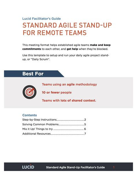 Stand Up Meeting Minutes Template by Agile Standup Meeting Lucid Meetings